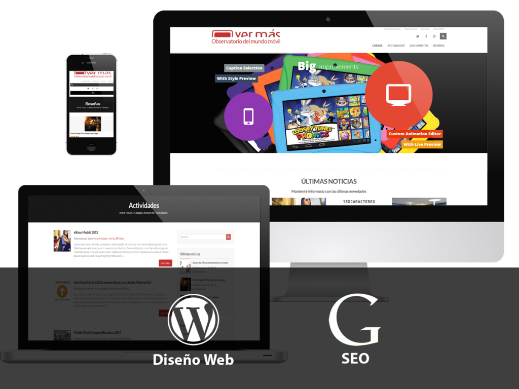 diseño web + seo + adwords